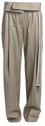 Stella McCartney Foldover Waist Wool Pants