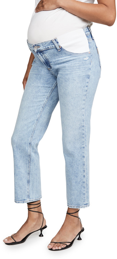 Thumbnail for your product : Paige Noella Straight Maternity Jeans