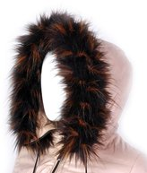 Futrzane Trim Hood Faux Fake Fur Hood Winter for Jacket Ski Collar Wrap Shawl