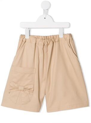 Familiar Bow Detail Shorts