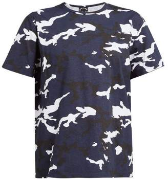 The Upside Marine Camouflage-print Cotton T-shirt - Womens - Blue Print