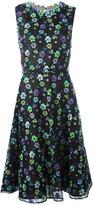 Oscar de la Renta floral embellished flared dress - women - Silk/Cotton/Polyester/Polyethylene - 12