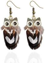 Kiwi Personality peacock hair owl earrings earrings temperament fashion earrings feather jewelry female new