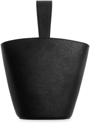 Tde Open Leather Bucket Bag