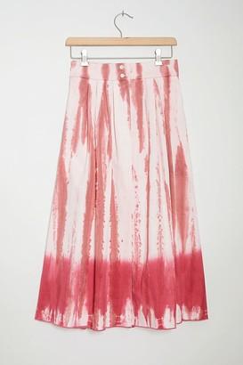Tiny Ansley Tie-Dye Wrap Midi Skirt