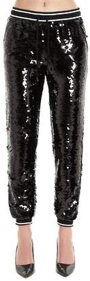 MICHAEL Michael Kors Sequinned Striped Trim Sweatpants