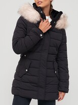 Thumbnail for your product : Very Short Padded Coat With Drawcord - Black