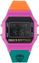Pauls Boutique Ladies' LCD Skull Print Watch