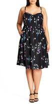 City Chic Plus Size Women's Specimen Floral Print Sundress