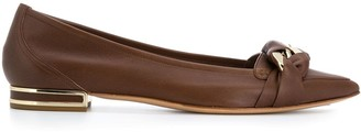 Casadei Pointed Ballerina Shoes