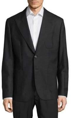 Dolce & Gabbana Regular Fit Peak Lapel Virgin Wool Sportcoat