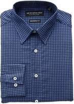 Nick Graham Men's Classic Fit Medallion Print Cotton Dress Shirt