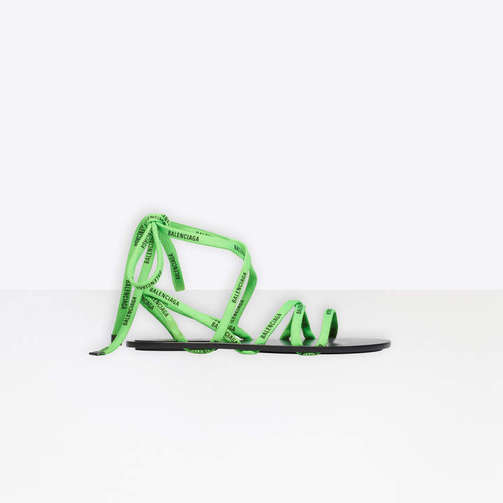 Balenciaga Flat sandals with printed laces