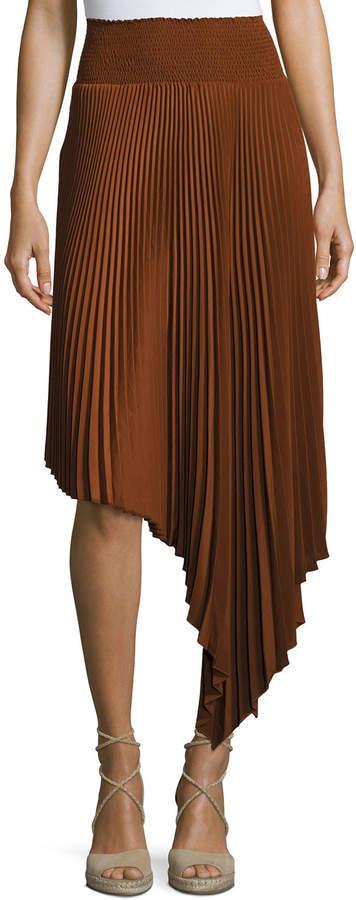 A.L.C. Sofia Asymmetric Pleated Midi Skirt