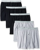 Fruit of the Loom Men's Exposed Waistband Knit Boxer (5 Pack)