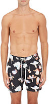 Saturdays Surf NYC Men's Colin Floral Swim Trunks-BLACK