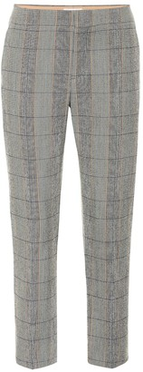 Chloé Checked stretch-wool pants