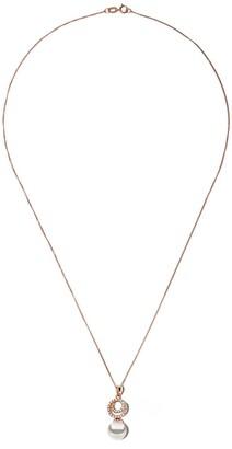 Yoko London 18kt rose gold Classic Akoya pearl and diamond pendant necklace
