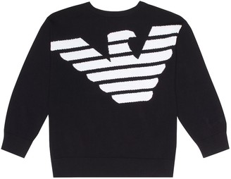 Emporio Armani Kids Printed cotton sweater