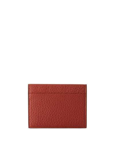 Giorgio Armani Cervo Leather Credit Card Holder