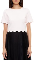 Ted Baker Sippah Scallop-Detail Crop Top