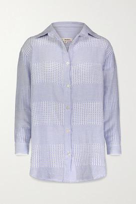 Lemlem Semira Cotton-gauze Shirt - Blue