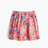 J.Crew Girls' pull-on skirt in brushstroke marigold