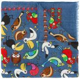 fe-fe animal print scarf