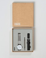 Asos Mesh Interchangeable Strap Watch
