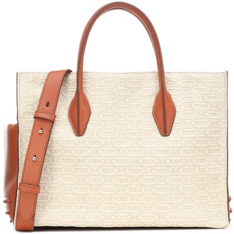 Tod's Exclusive to Mytheresa a leather-trimmed tote