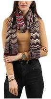 Missoni Tan/purple Herringbone Scarf.