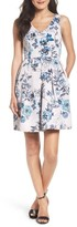 Taylor 8821M Sleeveless Floral Twill Dress