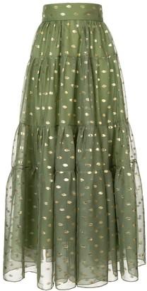 Bambah polka dot peasant skirt