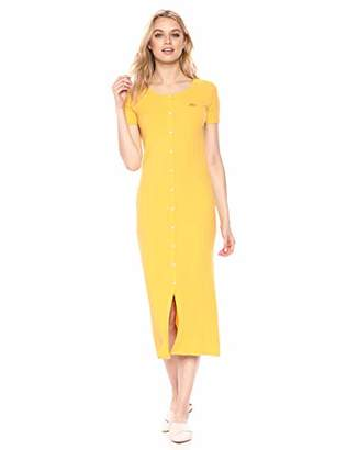 Lacoste Women's Ribbed Maxi Polo Dress