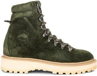Diemme Monfumo Boot in Dark Green Suede | FWRD