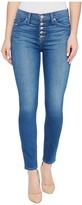 Hudson Ciara High-Rise Ankle Super Skinny Buttonfly Five-Pocket Jeans in Rumors Women's Jeans
