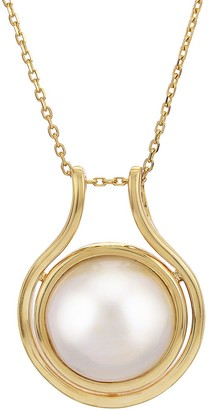 PearLustre by Imperial 14k Gold Mabe Cultured Pearl Pendant Necklace