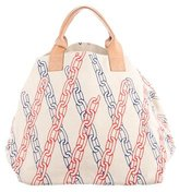 Clare Vivier Leather-Trimmed Printed Tote