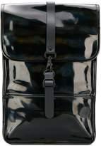 Rains glossy effect backpack