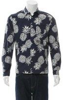 Valentino Pineapple Print Button-Up Shirt
