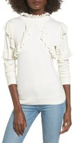 Leith Women's Ruffle Trim Sweater