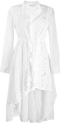 Anjuna Asymmetric Broderie Anglaise Shirt Dress