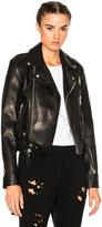 Unravel Leather Lace Up Biker Jacket