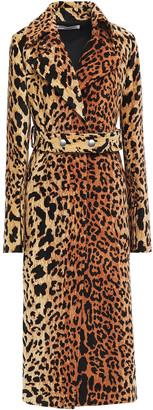 Victoria Beckham Belted Leopard-print Chenille Coat