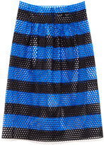 Marc Jacobs Preorder Cotton Eyelet Color-Block Midi Skirt