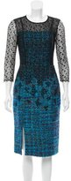 Erdem Lace-Paneled Tweed Dress
