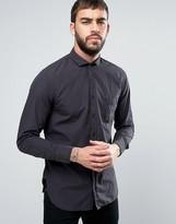 Boss Orange By Hugo Boss Poplin Shirt Slim Fit In Black