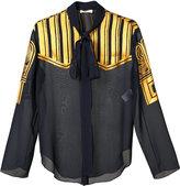 Nina Ricci embroidered shirt - women - Silk - 40