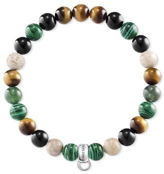 Thomas Sabo Women Charm Bracelet Brown, Green, White 925 Sterling Silver X0217-947-7