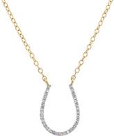 Gold & Diamond Horseshoe Necklace